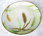Antique Old Abbey Limoges France Factory Decorated Gold Embossed Wheat Plate