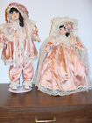 2 New Bisque Porcelain dolls w/tricycle, Classical Treasures w/certificate (d43a