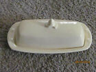 Vintage T.S.& T. Lu-Ray Pastels Covered Butter Dish Yellow