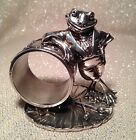 REED & BARTON 1999 FROG NAPKIN RING HOLDER 1824 COLLECTION SILVERPLATE