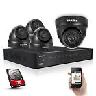 SANNCE 4CH 960H DVR HDMI 800TVL Outdoor CCTV Video Security Camera System 500GB