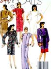 FAB SEXY SILK COLUMN EVE GOWN, CAFTAN DRESS SKIRT TOP Sewing Pattern 8884 16 18