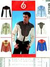 FAB VTG SET OF MENs WESTERN SHIRTS 6 STYLES Sewing Pattern 4530 S M L 34