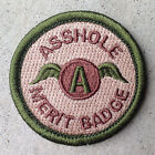 OD Green Multicam a-hole Merit Badge Tactical US Army funny Morale Patch