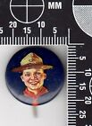 Antique Boy Scouts of America Lapel Pin (Boy in Campaign Hat)