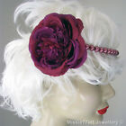 Rose pink Gatsby glass pearl flower fascinator headband horse racing One Size