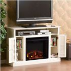 Electric Fireplace TV Stand 48 ins Heat Output 5000 with Media Console White
