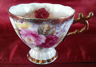 SHAFFORD JAPAN  TEA CUP  HAND PAINTED ROSES GOLD trim