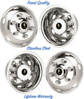 175 MITSUBISHI FH 6 LUG STAINLESS WHEEL SIMULATOR HUBCAP LINER RIM COVER SET