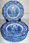 Staffordshire Ironstone Liberty Blue 9 Large Dinner Plate Independence England