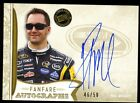2011 Press Pass FanFare PAUL MENARD Auto #46 50