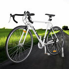 White Shimano 700C 54cm Aluminum Road Commuter Bike Racing Bicycle 21 Speed