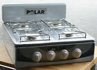 Propane Gas Stove Cooktop 4 Burner Gas Stove Range XL White / Stainless Steel