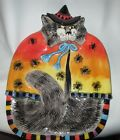 Fritz and Floyd  Kitty Witches Canape Serving Plate - Hand painted 7.5