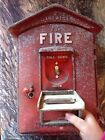 Vintage Gamewell Fire Alarm Box Fire Box Fire Department 26.5 LBS