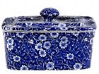 Calico Covered Butter Dish by Burleigh - Burgess & Leigh
