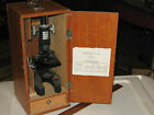 VINTAGE CHILDS RESEARCH MARK XIV MICROSCOPE, SOME SLIDES    BROKEN