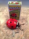 New Tin Key Wind Up Ladybug Mechanical Toy Beruska In Box!