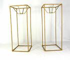Lamp Shade Wire Frames Pair for Table Lamps Tall Rectangle Custom Made NYC