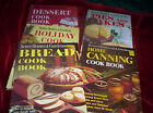 Vintage Lot of 5 HB Better Homes & Gardens Cookbooks Home Canning Pies Bread+++