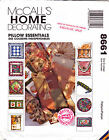 SEWING PATTERN Pillows 11 Designs Round, Square, Neck Roll, MORE McCall's 8661