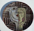 Fortunoff Two Abstract Faces Plate 16