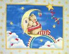 Fabric Panel Baby Nitey Night Bear Nursery Red Border Quilt Wall Hanging
