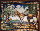 Horse Fabric Panel Point of View Bright Colorful Quilt Wall Hanging Girl