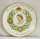 Vintage Collector Plate HM Queen Elizabeth II Coronation 1955 Tuscan Bone China