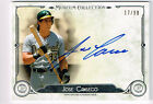 JOSE CANSECO 2014 TOPPS MUSEUM COLLECTION AUTO ON CARD # 17 99 OAKLAND A's