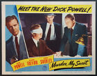 MURDER MY SWEET DICK POWELL BLINDFOLDED NOIR 1944 LOBBY CARD