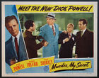 MURDER MY SWEET DICK POWELL MAZURKI KRUGER NOIR 1944 LOBBY CARD
