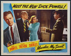MURDER MY SWEET DICK POWELL ANNE SHIRLEY NOIR 1944 LOBBY CARD