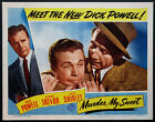 MURDER MY SWEET DICK POWELL MIKE MAZURKI NOIR 1944 LOBBY CARD