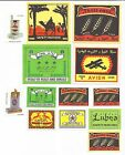 Lot of 13 Authentic Soviet Latvia Matchbox Labels for Export to Arab Countries