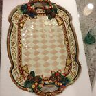 Large Fitz and Floyd Jolly Ole St. Nick Oval Platter with Box
