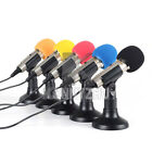 Pro Metal 3.5mm Stereo ISK Desktop Mini Microphone MIC For PC Computer Laptop