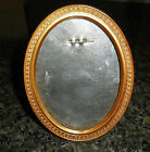 ANTIQUE M.W.CARR & CO. METAL PICTURE FRAME OVAL GOLD TONE DETAILED DATED 1908