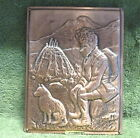 Vtg. Copper 3D Hammered Relief Art Picture Metal Plaque Copperama~