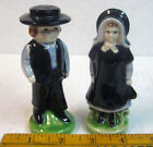 VINTAGE AMISH COUPLE SALT AND PEPPER SHAKERS ~ Mid Century