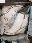 Ash Thelma White High Top Ankle Lace Wedge Buckle Sneaker 7 37