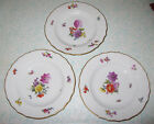 1894 Royal Copenhagen Saxon Flower 3 Dinner Plates Hand Painted #4 #1221
