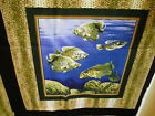 Bass Crappie Fish Lures Fishing Wildlife Outdoors Cotton Pillow Panels