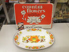 Country Flowers 18x12 Oval Serving Tray New!