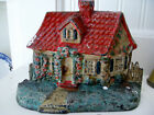 HUBLEY CAST IRON METAL COTTAGE HOUSE RED ROOF FLOWER GARDEN CAPE COD STYLE