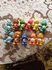 AWESOME LOT OF  11 Vintage 1980'S  POSABLE CARE BEARS  And Cousins PVC FIGURES