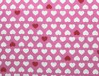 SNUGGLE FLANNELRED  WHITE HEARTS on PINK 100 Cotton Fabric NEW BTY