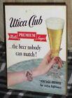 1950's Utica Club Beer Easel Back Display Sign West End Brewing Co Utica NY