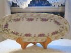 Antique Marked Imperial Crown China Austria Serving Tray Dish Circa 1900 Flowers