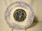 Pexonne Faience Fine Two Color Napoleon Military Plate 8 1/8